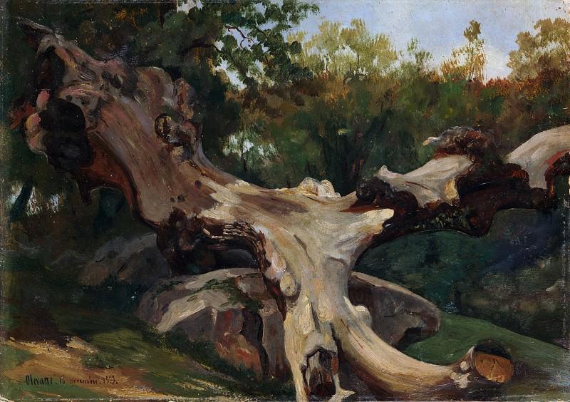 Antoine-Xavier-Gabriel de Gazeau, comte de La Bouëre - Uprooted Tree, Olevano. Metropolitan Museum: part 3