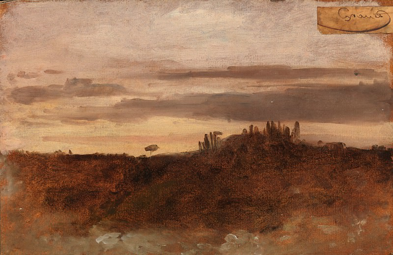 François-Marius Granet - Dusk, Monte Mario, Rome. Metropolitan Museum: part 3