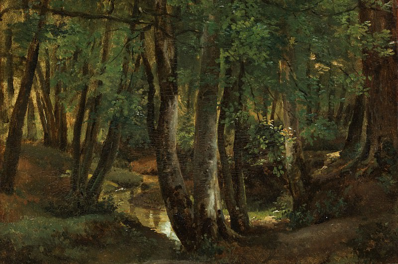 Robert-Léopold Leprince - Interior of a Wood at Pierrefitte. Metropolitan Museum: part 3