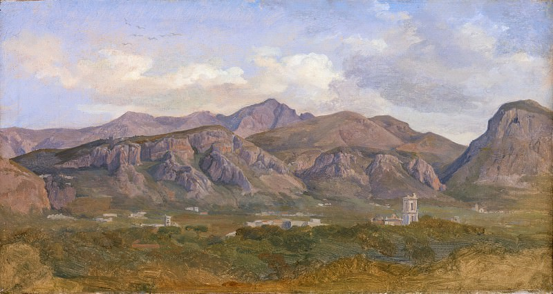 August Lucas - View of Monte Sant'Angelo from the Villa Auriemma near Sorrento. Metropolitan Museum: part 3