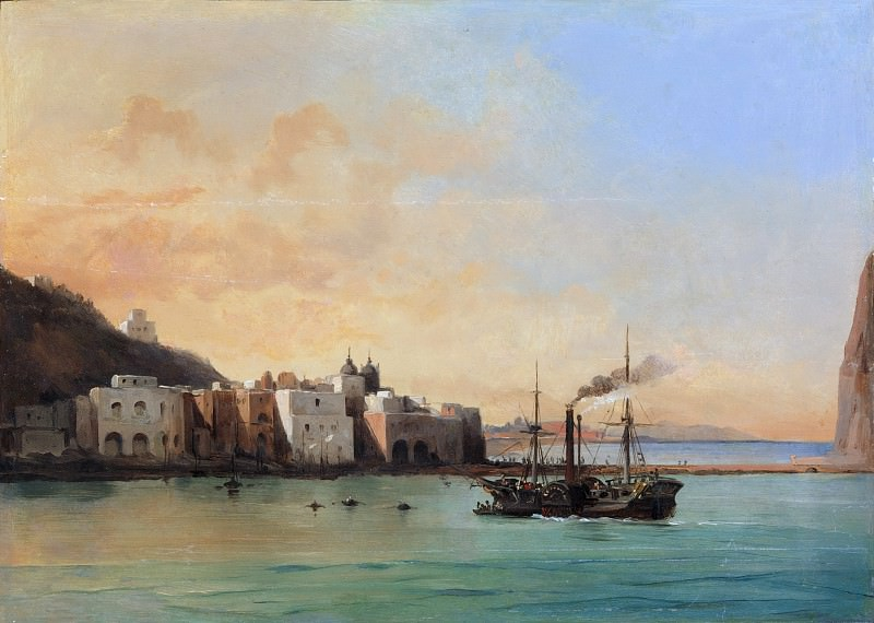 Charles Rémond - View of Ischia from the Sea. Metropolitan Museum: part 3