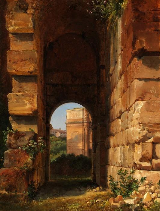 Lancelot-Théodore Turpin de Crissé - The Arch of Constantine Seen from the Colosseum. Metropolitan Museum: part 3
