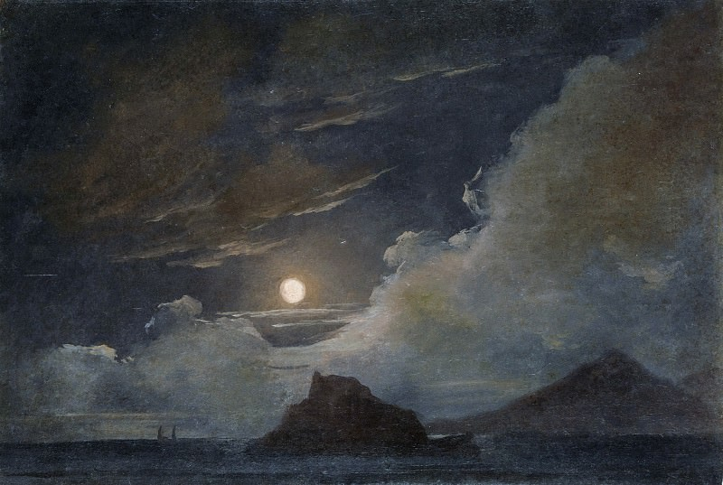 Pierre-Henri de Valenciennes or Circle - Ischia and the Bay of Naples by Moonlight. Metropolitan Museum: part 3