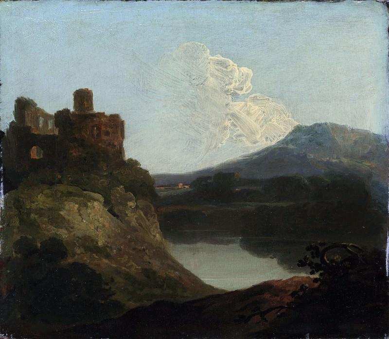Richard Wilson - Welsh Landscape with a Ruined Castle by a Lake. Metropolitan Museum: part 3