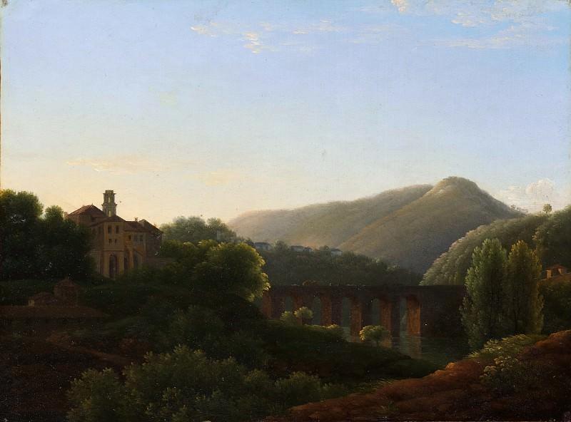 Joseph Bidauld - The Bridge at La Cava, Kingdom of Naples. Metropolitan Museum: part 3