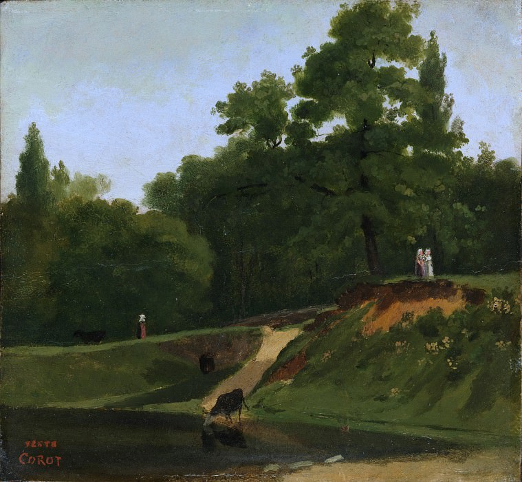 Camille Corot - Banks of the Stream near the Corot Property, Ville d'Avray. Metropolitan Museum: part 3