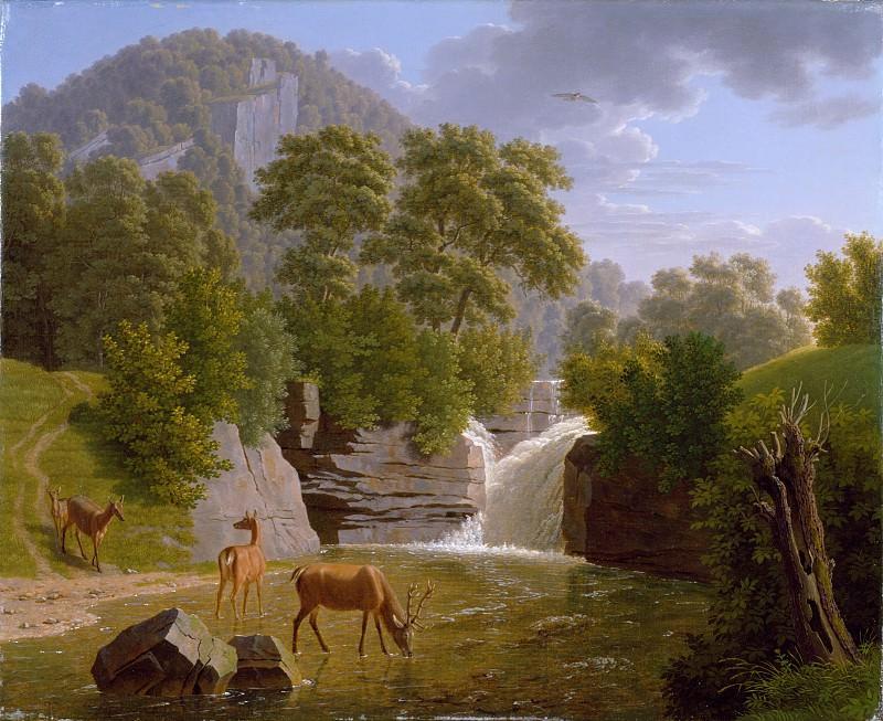 Johann Jakob Biedermann - Mountain Landscape with Deer at a River. Metropolitan Museum: part 3