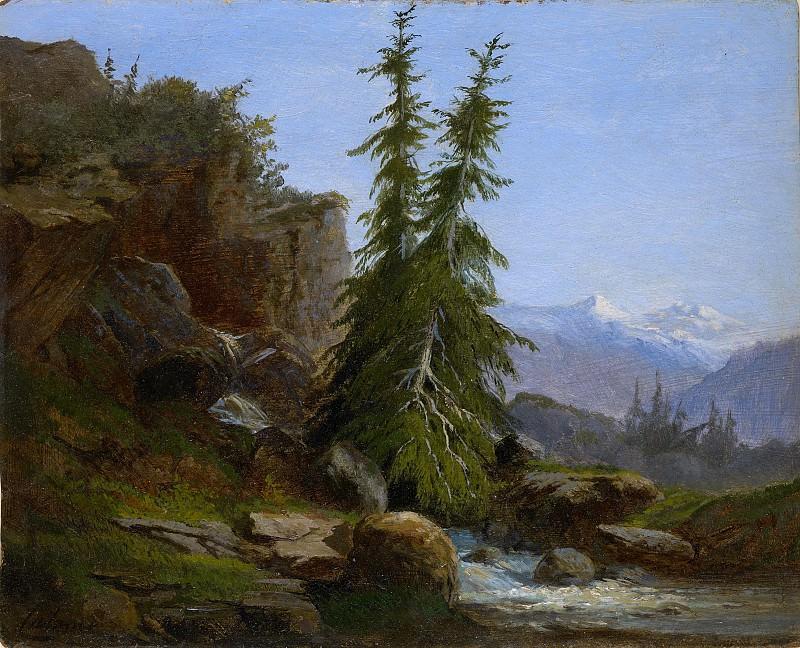 Alexandre Calame - Mountain Landscape, Valais, Switzerland. Metropolitan Museum: part 3