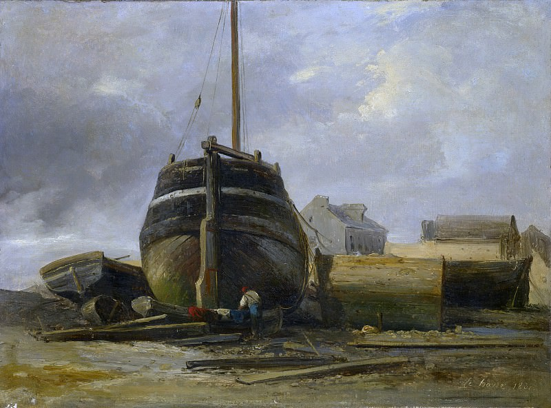 Jules Coignet - Shipyard at Le Havre. Metropolitan Museum: part 3