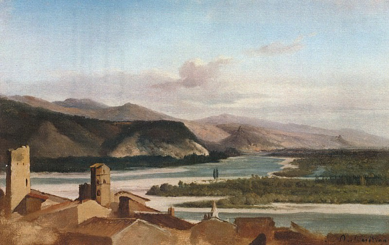 Alexandre Dubuisson - View in the Rhône Valley. Metropolitan Museum: part 3