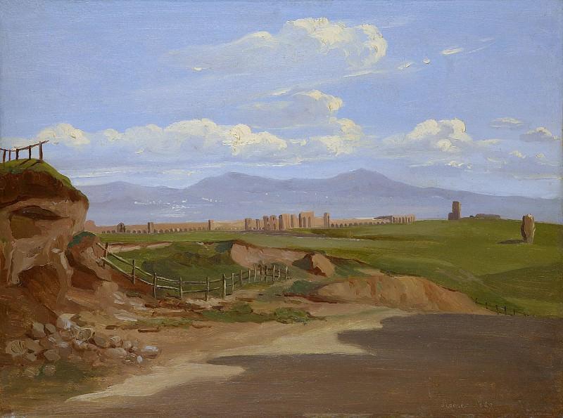 Ernest-Joachim Dumax - View in the Roman Campagna. Metropolitan Museum: part 3