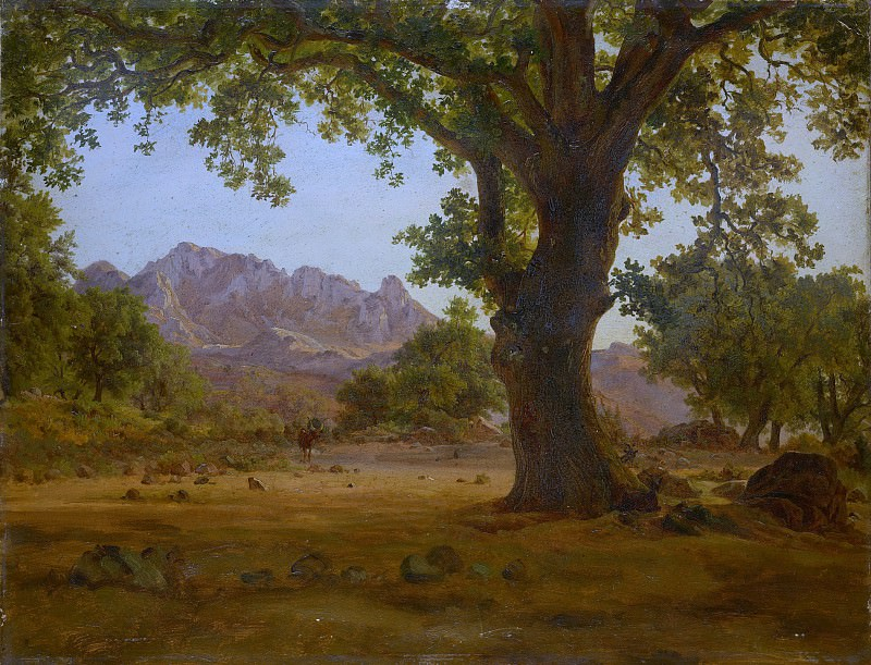 German Painter, 19th century - Oak Tree in a Mountainous Landscape. Metropolitan Museum: part 3