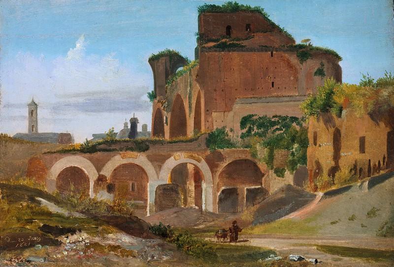 Иоганн Адам Кляйн - Базилика Константина, Рим. Музей Метрополитен: часть 3