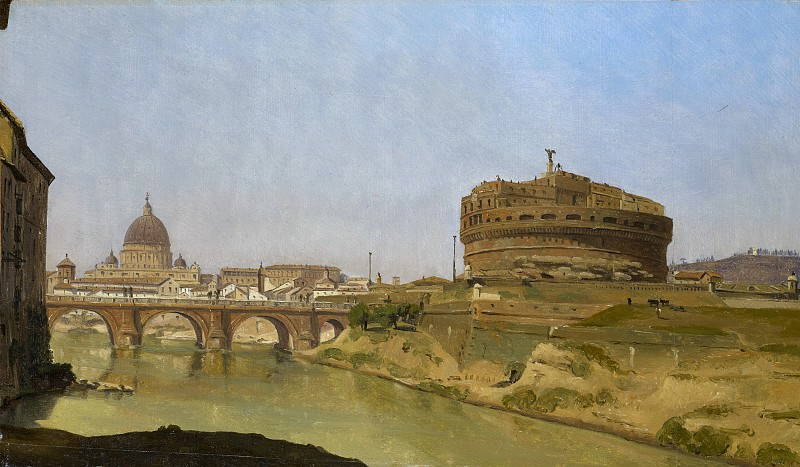 Gustaf Söderberg - Rome with St. Peter's and the Castel Sant'Angelo. Metropolitan Museum: part 3