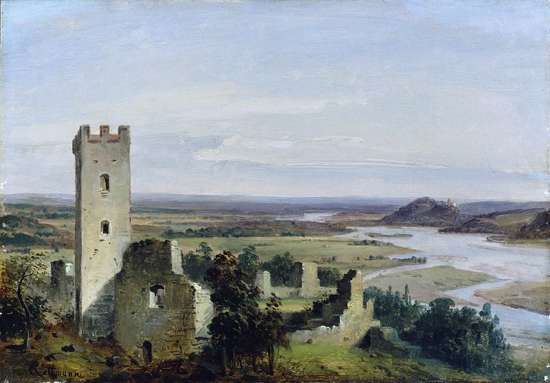 Carl Rottmann - River Landscape with Castle Ruins. Metropolitan Museum: part 3