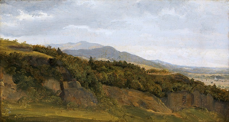 Fritz Petzholdt - German Landscape with View towards a Broad Valley. Metropolitan Museum: part 3