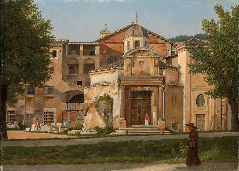Christoffer Wilhelm Eckersberg - A Section of the Via Sacra, Rome (The Church of Saints Cosmas and Damian). Metropolitan Museum: part 3