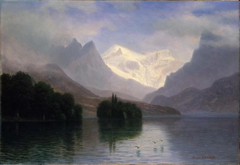 Albert Bierstadt - Mountain Scene. Metropolitan Museum: part 3