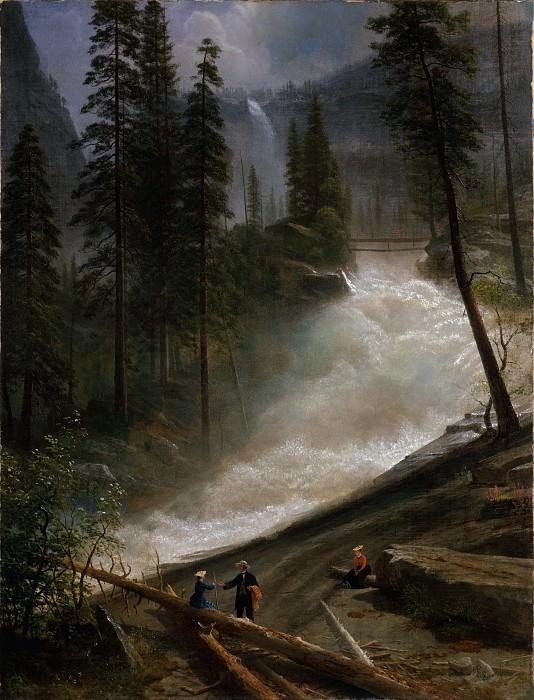 Albert Bierstadt - Nevada Falls, Yosemite. Metropolitan Museum: part 3