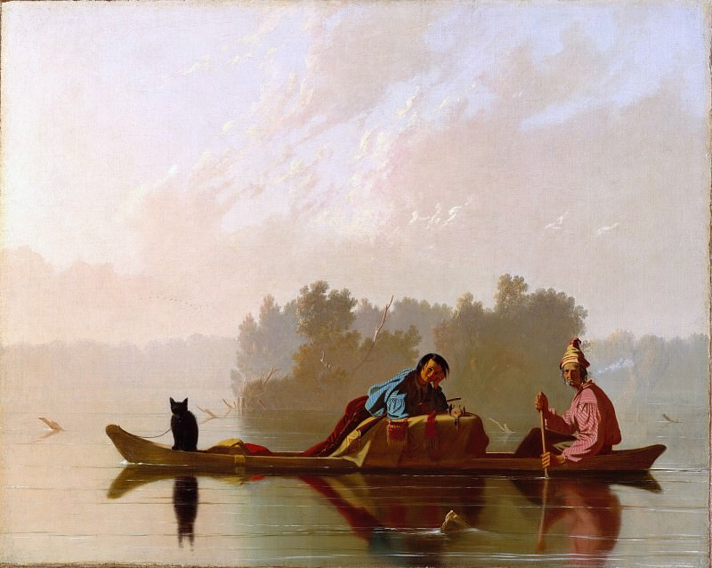 George Caleb Bingham - Fur Traders Descending the Missouri. Metropolitan Museum: part 3