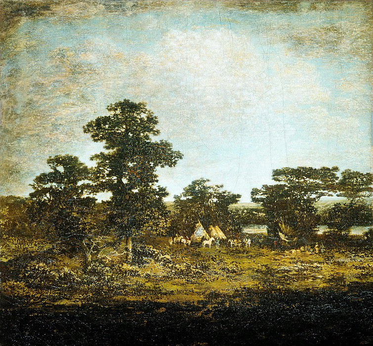 Ralph Albert Blakelock - An Indian Encampment. Metropolitan Museum: part 3