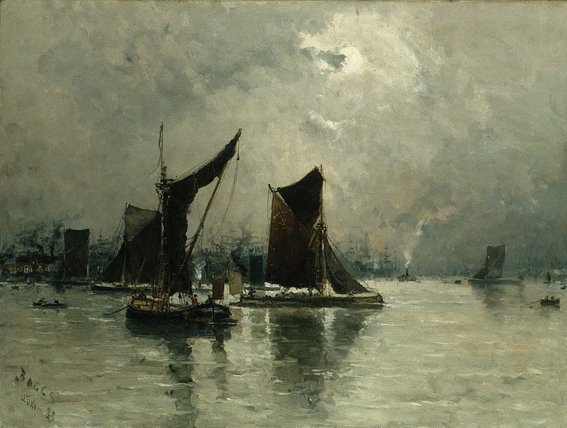 Frank Myers Boggs - On the Thames. Metropolitan Museum: part 3