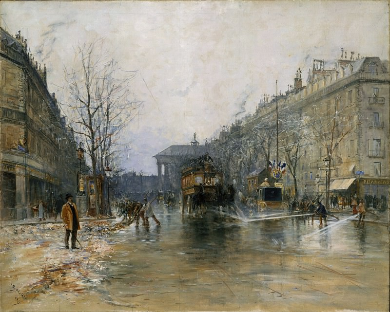 Frank Myers Boggs - Paris Street Scene. Metropolitan Museum: part 3
