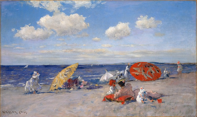 William Merritt Chase - At the Seaside. Metropolitan Museum: part 3