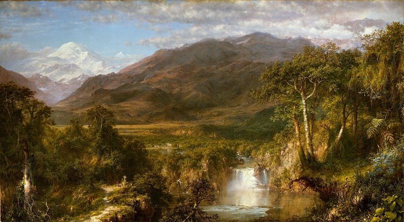 Frederic Edwin Church - Heart of the Andes. Metropolitan Museum: part 3