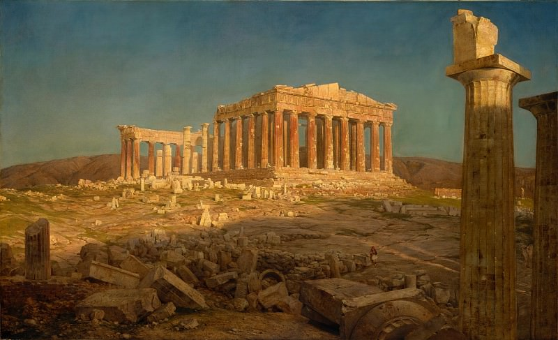 Frederic Edwin Church - The Parthenon. Metropolitan Museum: part 3