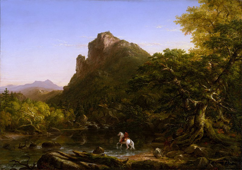 Thomas Cole - The Mountain Ford. Metropolitan Museum: part 3