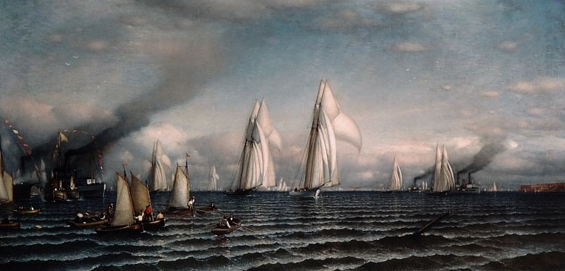 Samuel Colman - Finish—First International Race for America's Cup, August 8, 1870. Metropolitan Museum: part 3