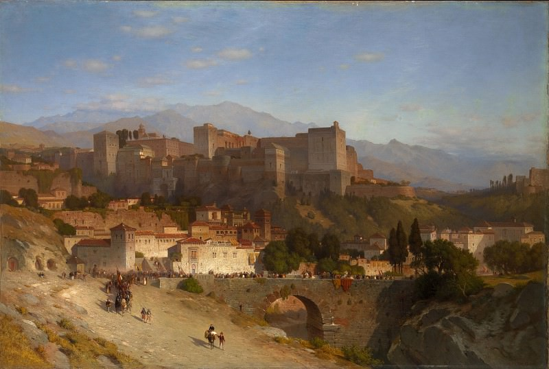 Samuel Colman - The Hill of the Alhambra, Granada. Metropolitan Museum: part 3
