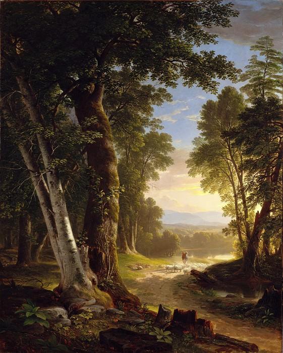 Asher Brown Durand - The Beeches. Metropolitan Museum: part 3