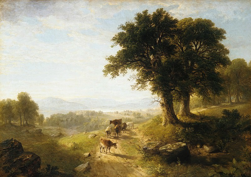 Asher Brown Durand - River Scene. Metropolitan Museum: part 3