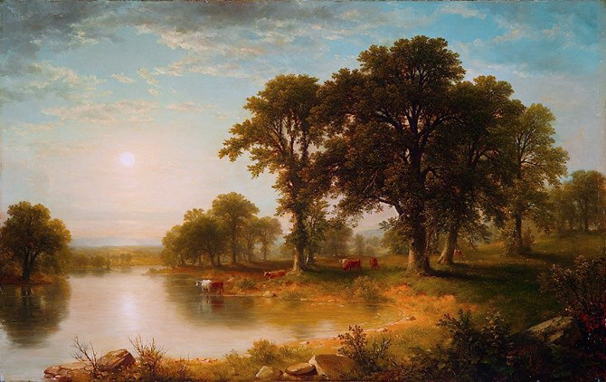Asher Brown Durand - Summer Afternoon. Metropolitan Museum: part 3