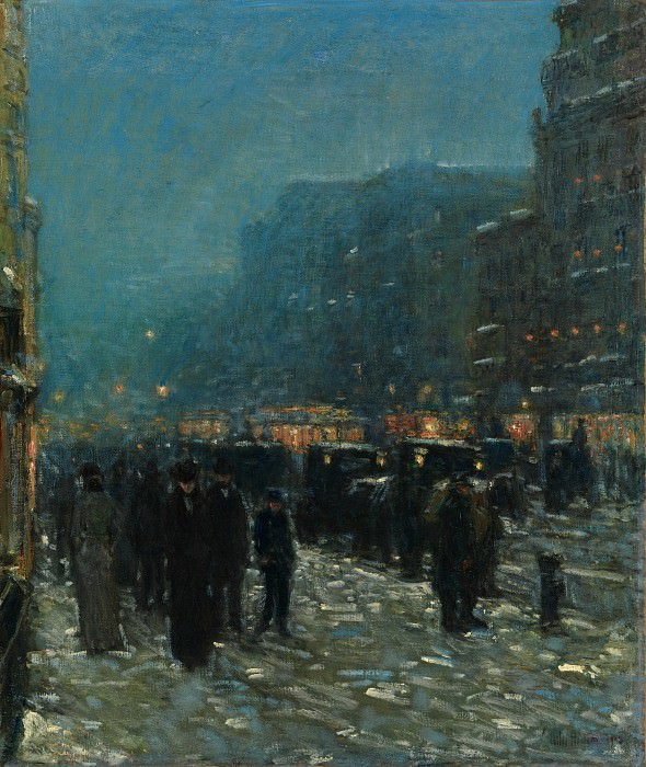 Childe Hassam - Broadway and 42nd Street. Metropolitan Museum: part 3