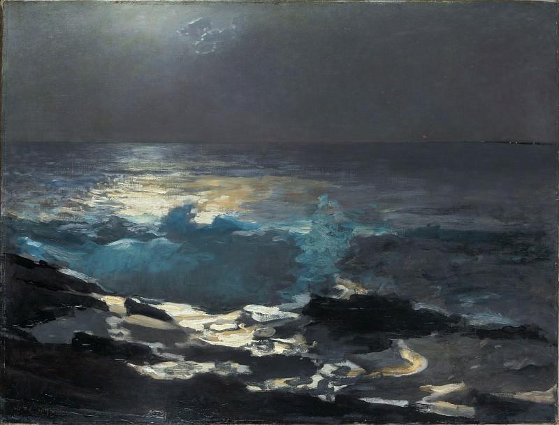 Winslow Homer - Moonlight, Wood Island Light. Metropolitan Museum: part 3