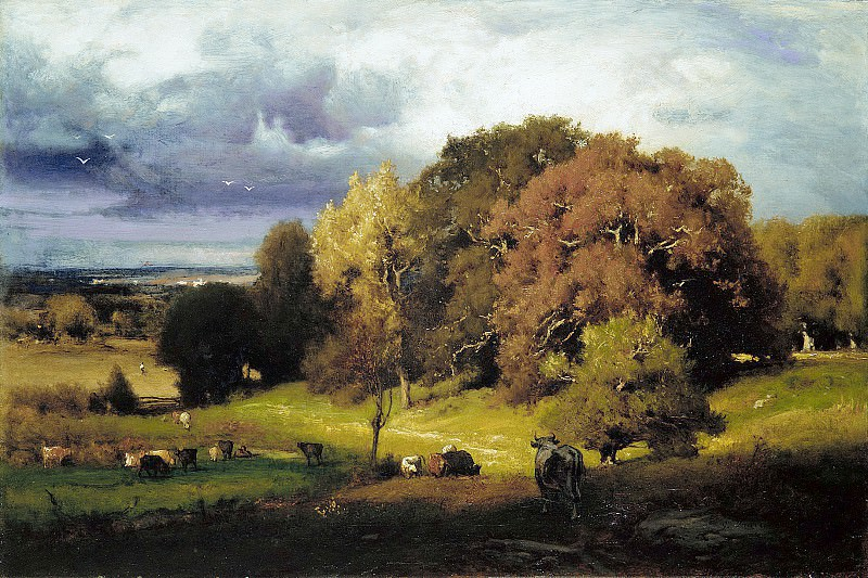 George Inness - Autumn Oaks. Metropolitan Museum: part 3