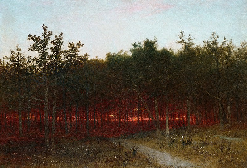 John Frederick Kensett - Twilight in the Cedars at Darien, Connecticut. Metropolitan Museum: part 3