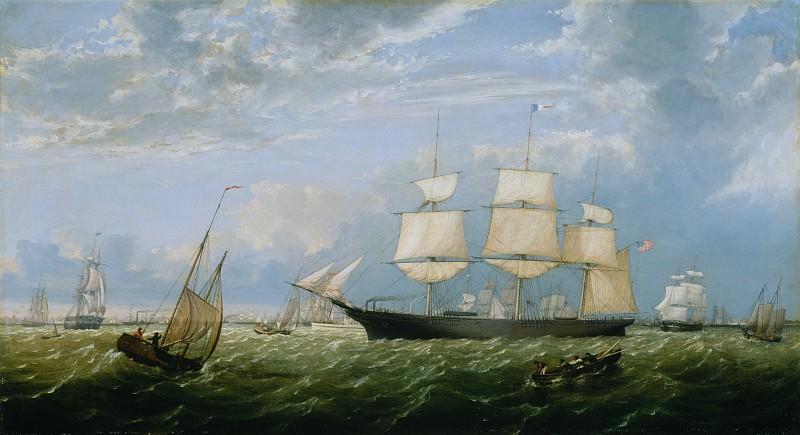Fitz Henry Lane (1804–1865) - The Golden State Entering New York Harbor. Metropolitan Museum: part 3