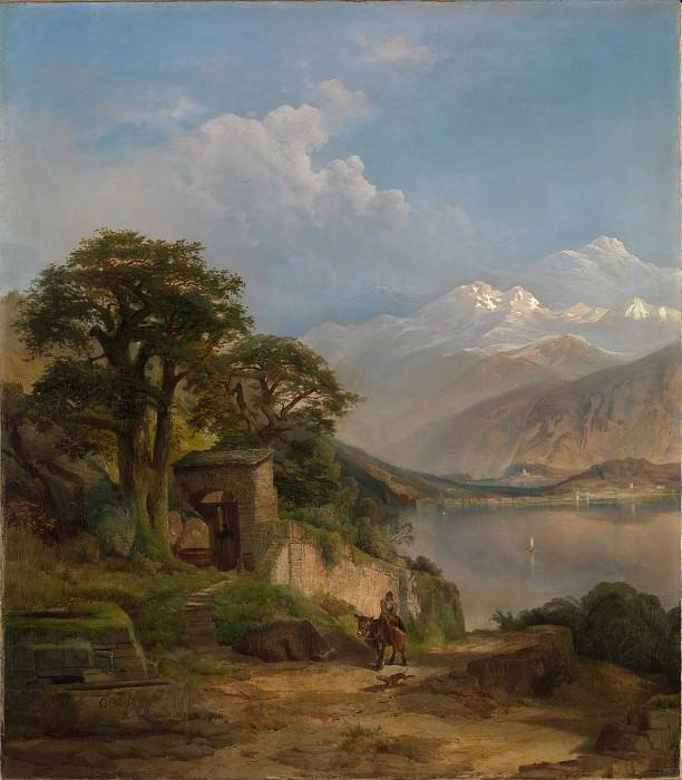 Thomas Moran - Lake Como. Metropolitan Museum: part 3