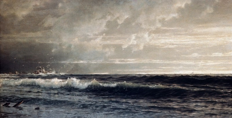 William Trost Richards - Near Land's End, Cornwall. Metropolitan Museum: part 3