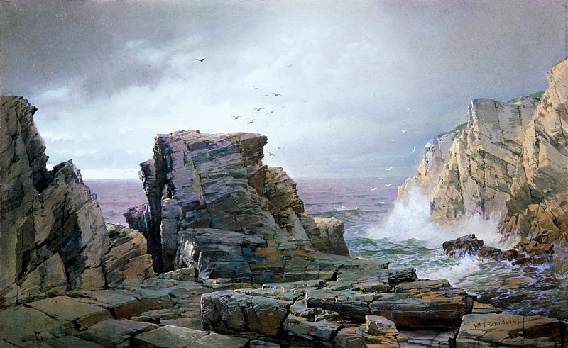 William Trost Richards - A Rocky Coast. Metropolitan Museum: part 3