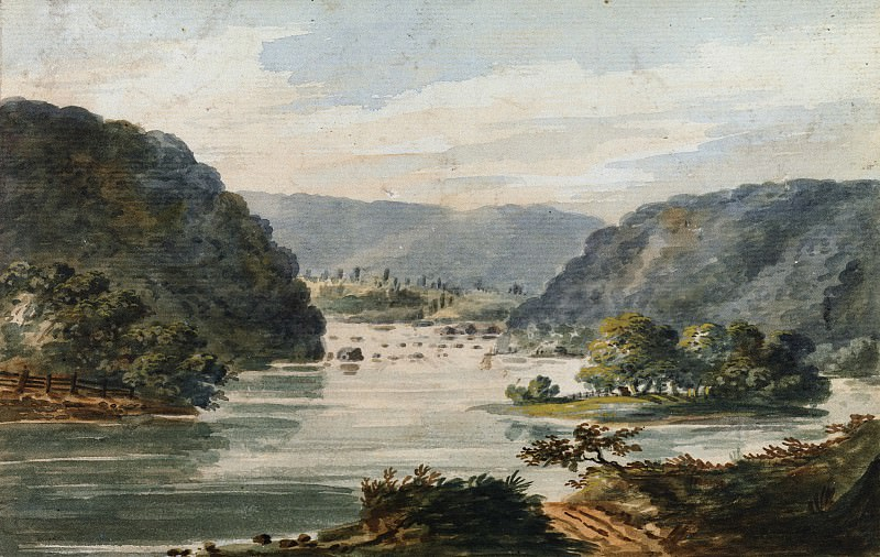 Pavel Petrovich Svinin - A View of the Potomac at Harpers Ferry. Metropolitan Museum: part 3