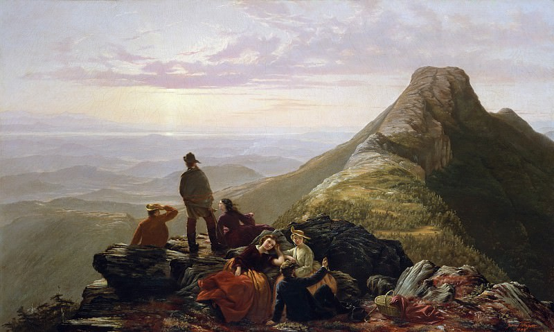Jerome B. Thompson - The Belated Party on Mansfield Mountain. Metropolitan Museum: part 3