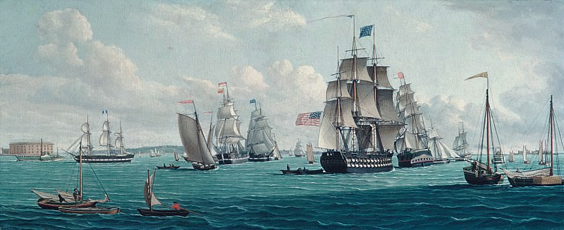 Thomas Thompson - The U. S. Ship Franklin, with a View of the Bay of New York. Metropolitan Museum: part 3
