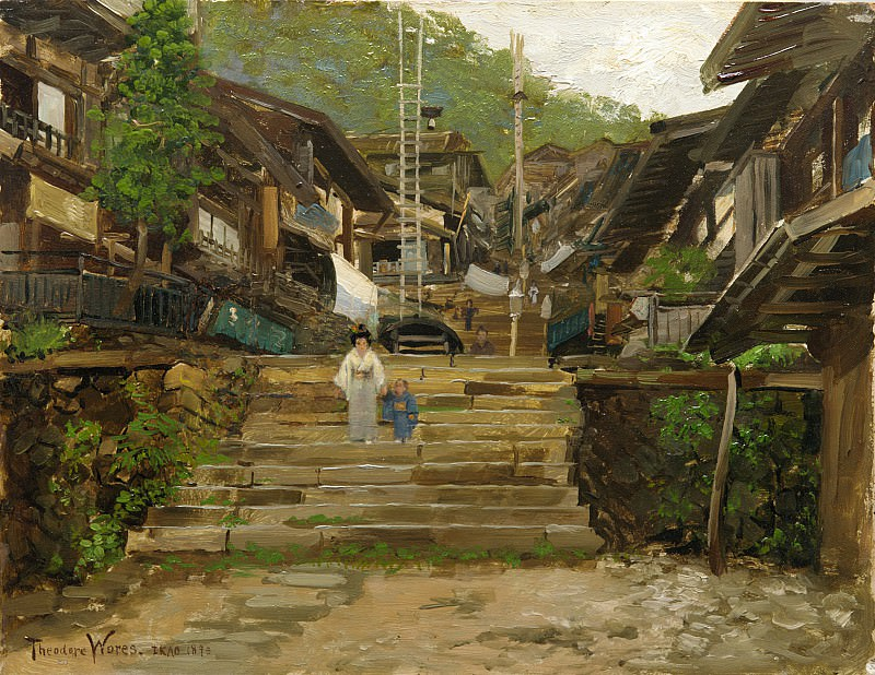 Theodore Wores - A Street in Ikao. Metropolitan Museum: part 3