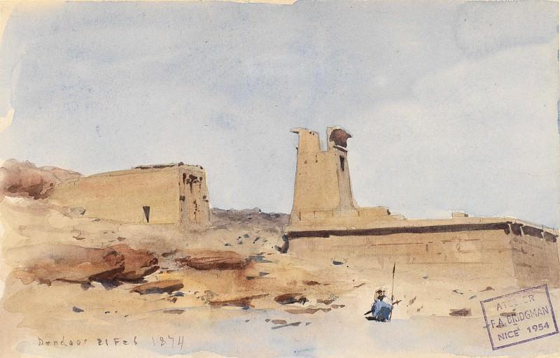 Frederick Arthur Bridgman - The Temple of Dendur, Showing the Pylon and Terrace. Metropolitan Museum: part 3