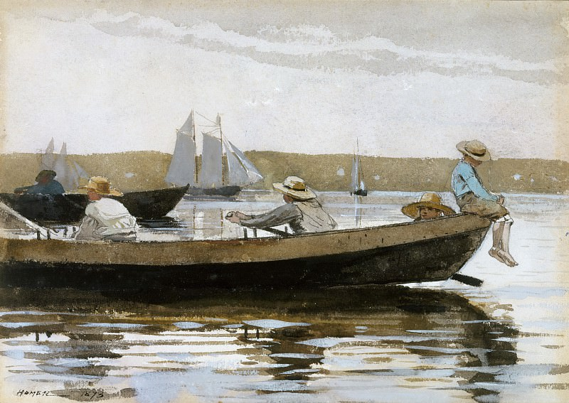 Winslow Homer - Boys in a Dory. Metropolitan Museum: part 3